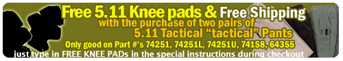Free Knee Pads with Pants Purchase